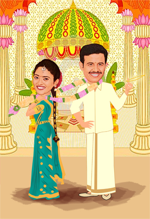 Wedding Caricature Gifts For Couples Unique Gifts For Couples Art Gits Marriage Gifts Ideas Wedding Gift Ideas For Friends Traditional Indian